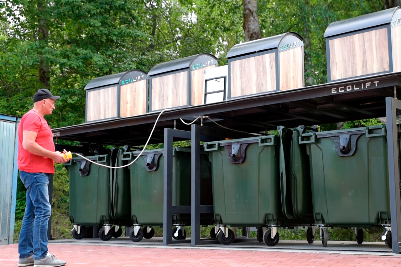Система подземного сбора и хранения мусора ECOLIFT